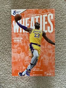 LeBron James Wheaties Box Los Angeles Lakers 15.6 OZ Full Cereal Box IN HAND NOW