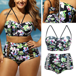 f42121c8d6 Image is loading 2019-2PC-Geometric-Wired-Swimsuit-Floral-Tropical-Bikini-