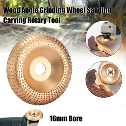 Carbure Wood-Sanding Sculpture Forme Disque for Angle-Grinder Grincement Roue