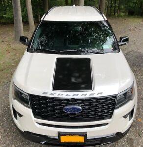 Image Is Loading Ford Explorer Vinyl Hood Decal Blackout Sport Matte