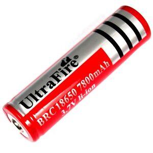 1 x Ultra Fire 7800 mAh Lithium Ionen Akku 3,7 V battery pack je 36g