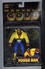 Marvel's Gold Luke Cage Power Man 1998 Toy Biz Ltd Ed of 10,000 STILL SEALED!