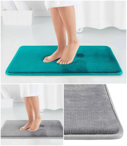 Memory Foam Mat Non Slip Bathroom Rug Area Floor Bath Carpet Microfiber Soft