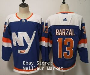 reputable site 6fac5 2cdeb Details about Mathew Barzal Adidas New York Islanders Mens L 52 Hockey  Jersey Alternate NHL