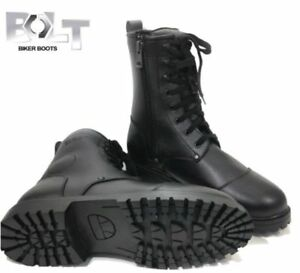 BOLT-R50-WATERPROOF-MOTORCYCLE-BOOT-COMBAT-GOTH-LACES-UP-MOTORBIKE-HEAVY-SIZE-11