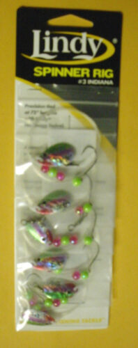 CARD OF 6  LINDY SPINNER RIGS LSR1088 #3 INDIANA RAINBOW SMELT
