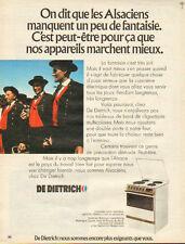 Publicité 1972  Cuisinière électrique DE DIETRICH