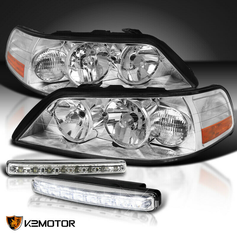 For 2005-2011 Lincoln Town Car Clear Headlights+8-L