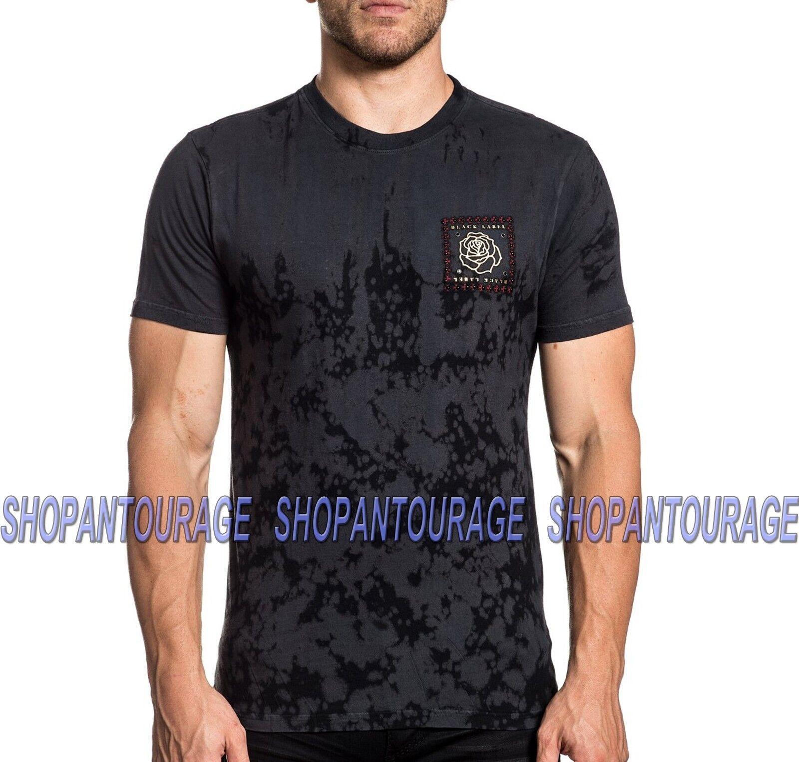 Affliction Forever Cross A20188 Kurz Ärmel Schwarz Label Mode T-Shirt für Männer