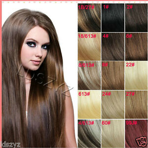 Full head set 14 30 clip in remy human hair extensions any black image is loading full head set 14 034 30 034 clip pmusecretfo Choice Image