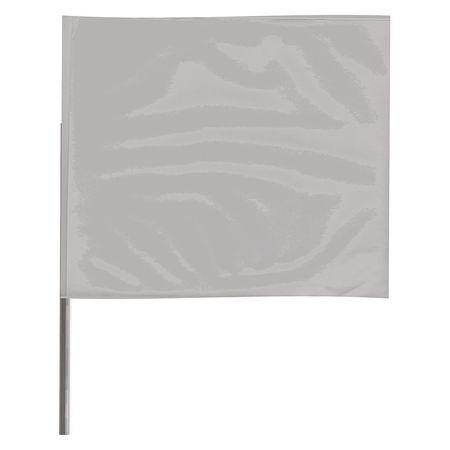 ZORO SELECT 2315SV-200 Marking Flag,Silver,Blank,Vinyl,PK100