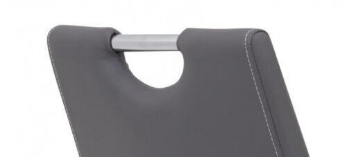 2 Freischwinger=Set Schwinger Stuhl Flora 52 Kunstleder Grau