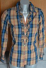 jolie chemise strech à carreaux marron et bleu TOMMY HILFIGER taille 38/40