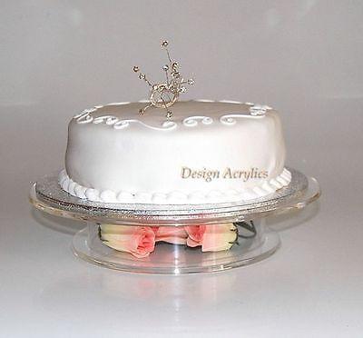 """Acrylique clair empilés piédestal wedding cake stand 12.0 /"""""""