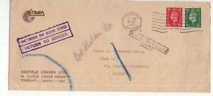 Great-Britain-RTS-KGV1-cover-1940-with-handstamps-applied