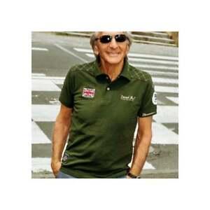 éNergique Grandprix Originals Derek Bell 5 Fois Polo Shirt Green Racing
