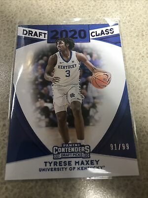 2020 Panini Contenders Tyrese Maxey Draft Class Rookie Card 99 Ebay