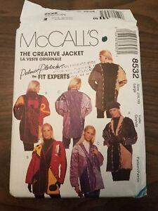 Vintage-McCalls-Pattern-8532-Embellished-Creative-Jacket-Sz-L-16-18-UNCUT