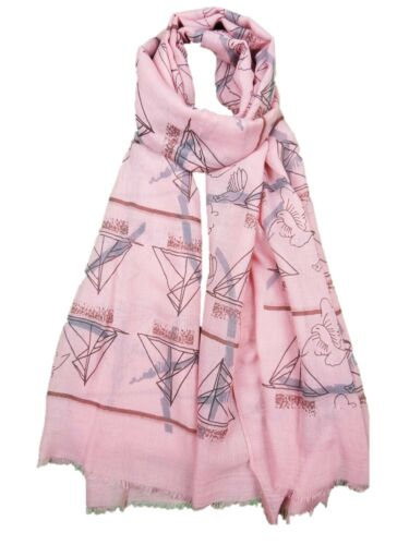 Ladies Womens Sailing Boat Scarf Yacht Blue White Grey Summer Spring Boating