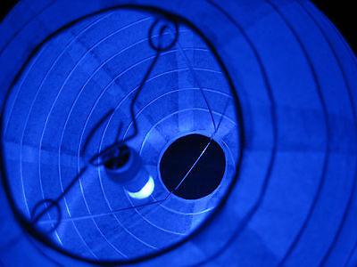 60 Led Blue Ballon Paper Lantern Waterproof Submersible Light Wedding Party
