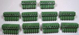 Set of 10 // 5 pin 3.5mm //  Pluggable Connector Terminal Block Phoenix Plug