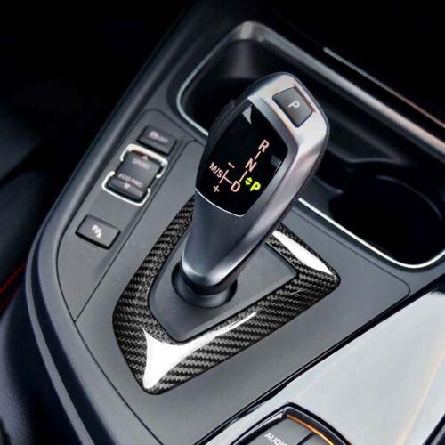 Car Carbon Fiber Gear Shift Panel Surround Cover Trim For BMW 1 2 3 4 Series