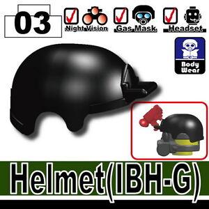W99 IBH-G Advanced Army Assault Helmet compatible w// toy brick minifigures