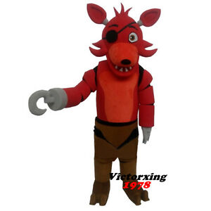 Image is loading Five-Nights-At-Freddy-039-s-Toy-Foxy-  sc 1 st  eBay & Five Nights At Freddyu0027s Toy Foxy Mascot Costume Adult Costume Free ...