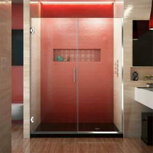NEW DreamLine Unidoor Plus 53 to 53.5 in. x 72 in. Frameless Hinged Shower Door in Chrome Condition: New. Ch(7184706)... City of Toronto Toronto (GTA) Preview