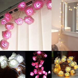 20-LED-Rose-Flower-Xmas-String-Lights-Fairy-Wedding-Christmas-Party-Garden-Decor
