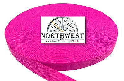 2 Inch Heavy Nylon Webbing/Strapping  Florescent Hot Pink 5 Yards