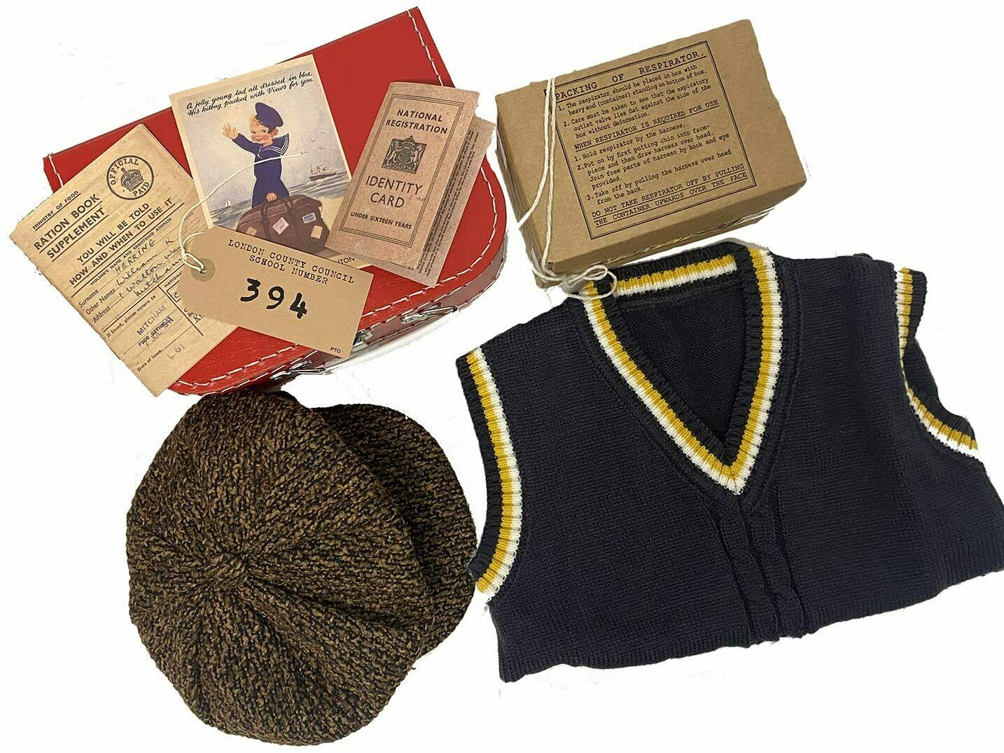 1940s/WW2/Blitz/Wartime History Complete Boys Dressing up 8 piece 1940s Age 7-9