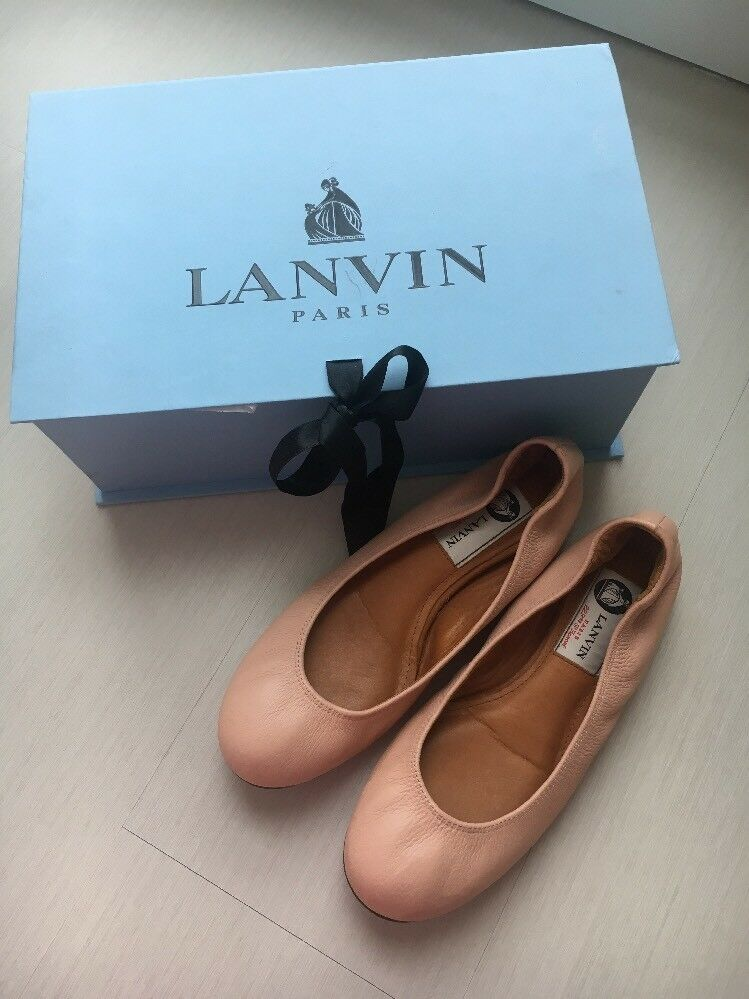 Lanvin Nude Pink Ballet Flats Size 35