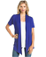 Women-039-s-Solid-Short-Sleeve-Cardigan-Open-Front-Wrap-Vest-Top-Plus-USA-S-3X thumbnail 12