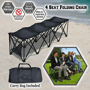 Pleasant Details About 3 4 6 8 Person Seat Folding Sideline Bench Seater Chair Outdoor Sport Waterproof Creativecarmelina Interior Chair Design Creativecarmelinacom
