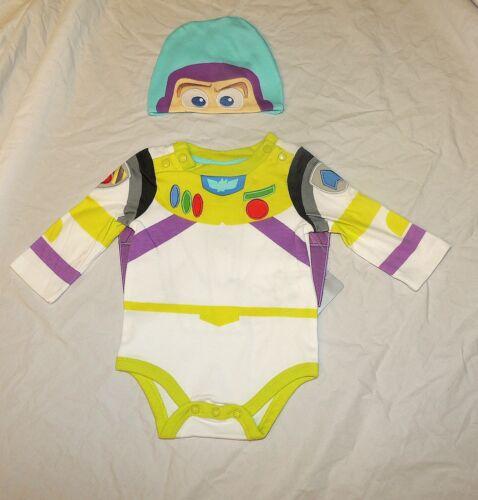 New Disney Baby Buzz Lightyear Long Sleeve One Piece Hat Costume Size 12-18M