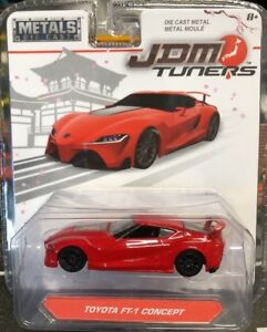 JADA-JDM-TUNERS-TOYOTA-FT-1-CONCEPT-RED-SCALE-1-55-NEW-IN-PACKAGE-DIE-CAST