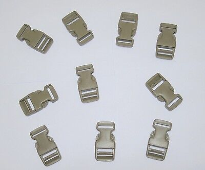 """1 Set High Quality Fastex Side Release Buckle OD Green For 50mm 2/"""" Molle Webbing"""