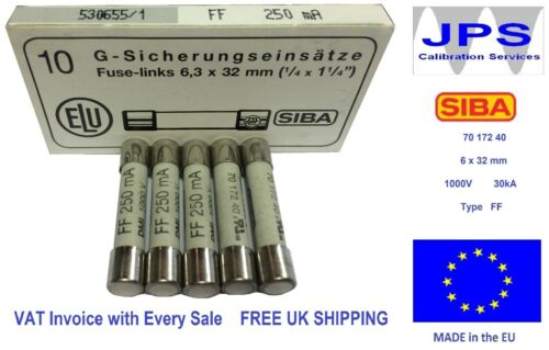 SIBA 7017240 6.3 x 32mm Ultra Rapid Ceramic Pick Your Rating FF Fuse 1000V