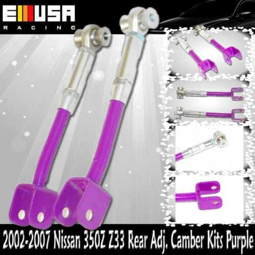 For 2002-2007 Nissan 350Z Enthusiast Coupe 2-Door  Rear Adj Camber Kits Purple