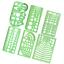 URlighting Measuring Templates Plastic Geometry Stencils Template Geome 6 P cs