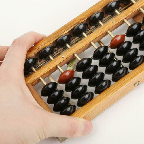Japanese Soroban Style Wooden Abacus Frame Beads Classic Ancient Calculator