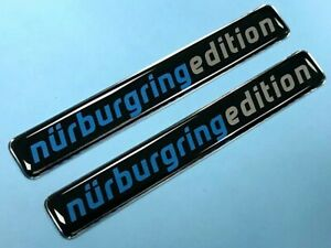 2-x-Nurburgring-Edition-Blue-Stickers-91mm-HIGH-GLOSS-DOMED-GEL-JakeDesigns