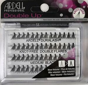 594483aaae0 Image is loading Ardell-Duralash-Double-Individuals-knot-free-Medium-Black-