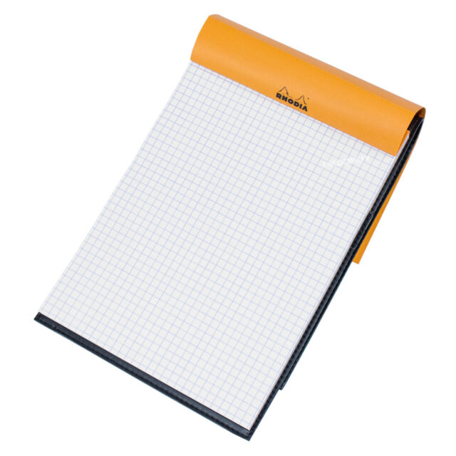 rhodia a5 grid paper notepad faux leather 5 5 5mm maths design art
