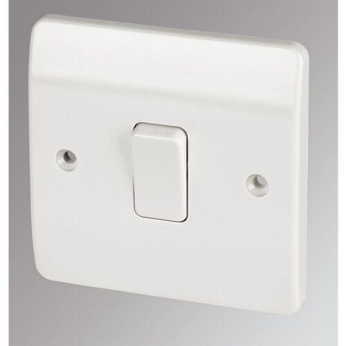 MK 1-Gang 2-Way 10AX Interrupteur De Lumière Blanc