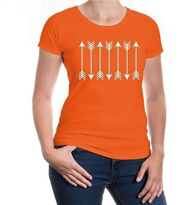 Ordinato Da Donna A Maniche Corte Malvagia T-shirt Archery Arrows Arco Sparare Schießsport Frecce-