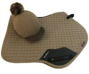 LeMieux-Matching-Mink-Suede-Full-Size-Close-Contact-Cloth-amp-Hat-Silk