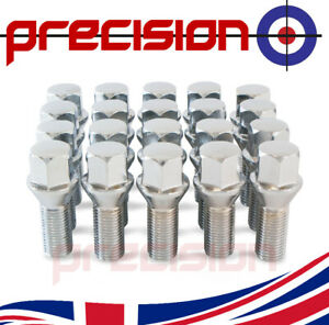 20-Wheel-Nut-Bolts-for-VW-Caddy-Mark-3-with-Aftermarket-Alloys