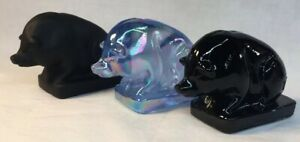 Boyd-Art-Glass-Set-Of-Suee-Pigs-American-Made
